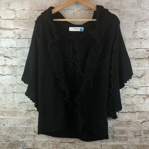 Anthropologie Sparrow Cardigan Sweater Black M